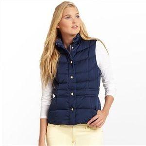 """Lilly Pulitzer Navy """"Lauren Puffer Vest""""  SZ M NWT"""